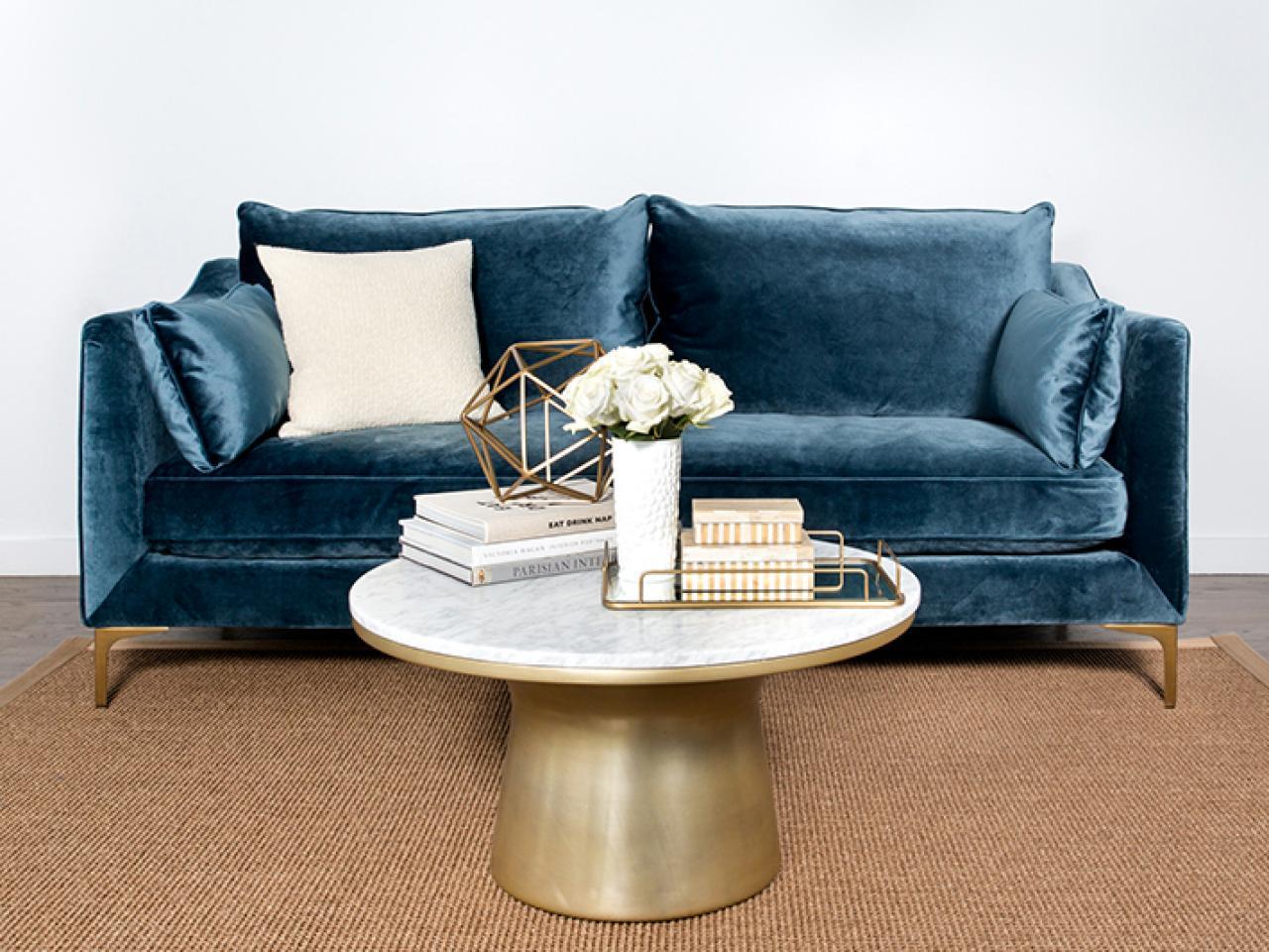 Velvet sofas 4. blue with gold accents UFXYXGD