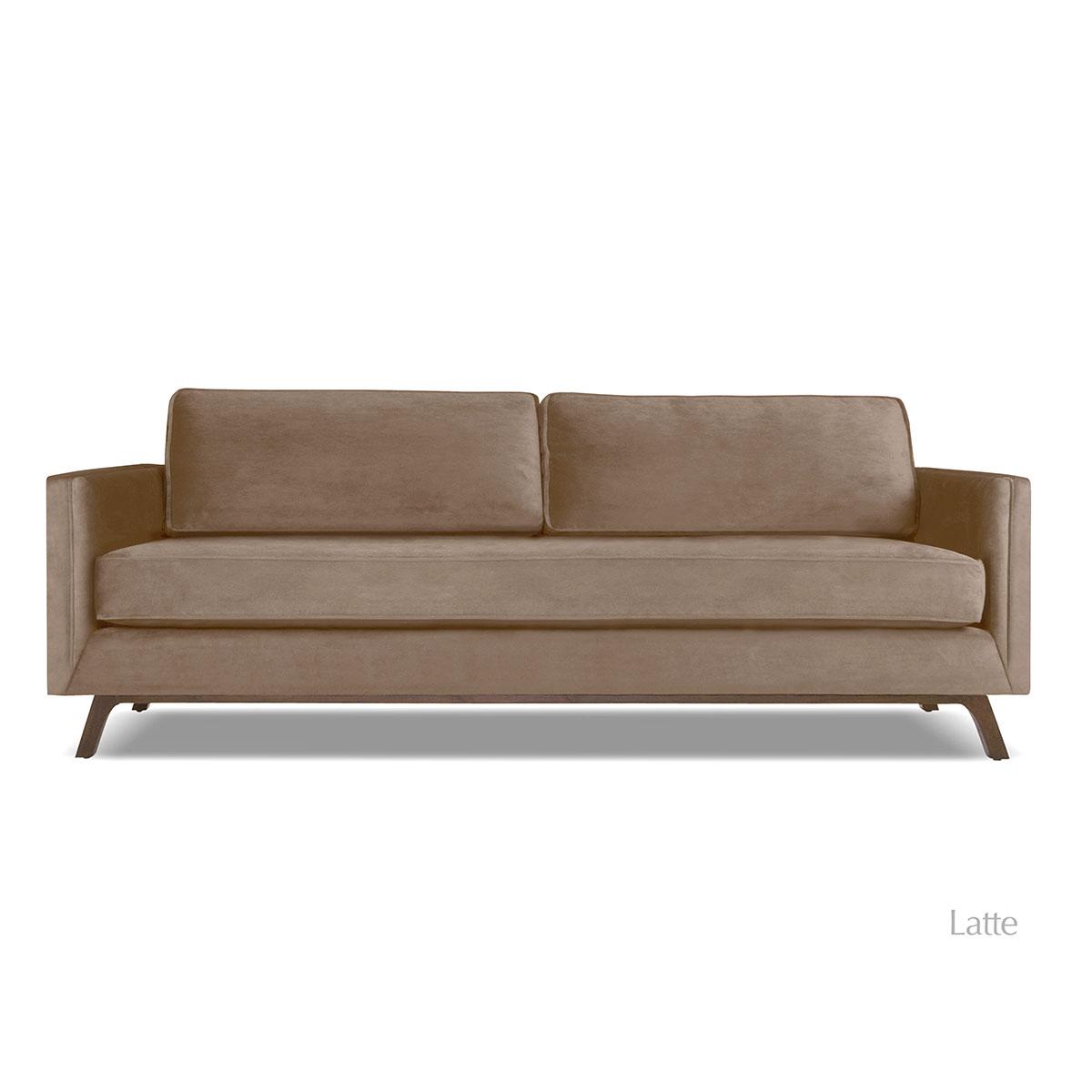 Velvet sofas Bruce Velvet sofa Latte HHHANIH