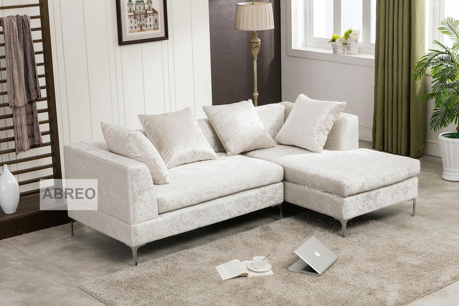 Velvet sofas Manhattan silver colored velvet sofa RDZBOTX