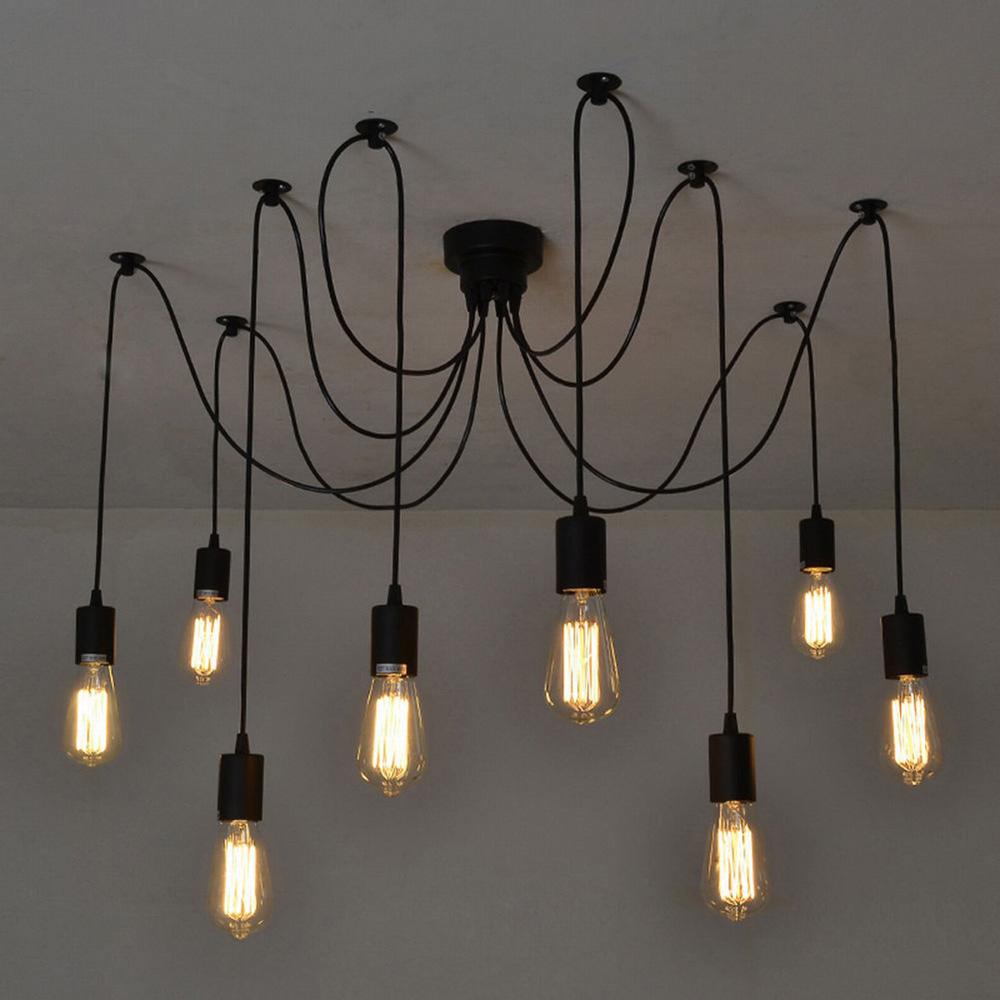Vintage lighting antique classic adjustable diy ceiling spider lamp light retro chandelier Edison CNEUKBF