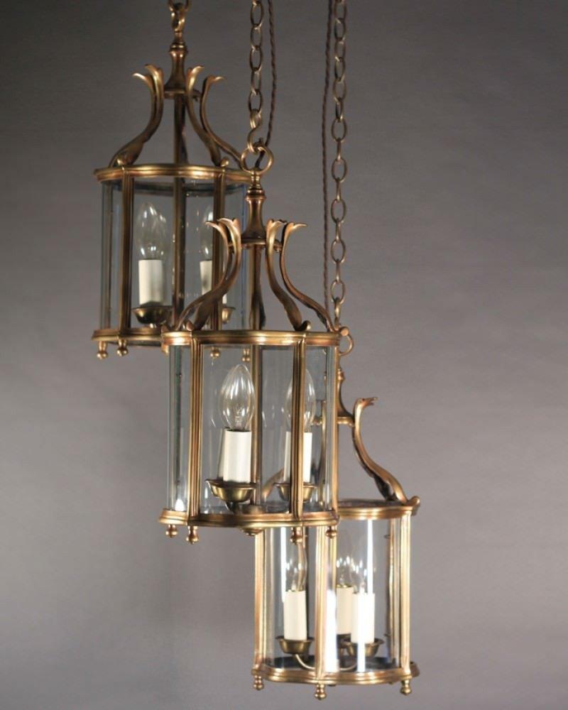 Vintage lighting, English hall lanterns GGWQPIR