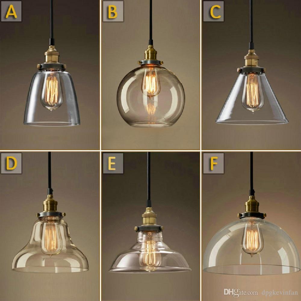 Vintage Lighting Vintage Chandelier DIY LED Glass Pendant Light Pendant Light Edison Lamp RVWAUNG