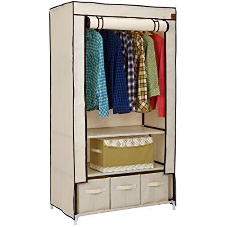 vonhaus double canvas effect wardrobe - wardrobes with 2 VXJKZIW