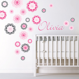 Wall decals for children Flower wall decals TMJXAME
