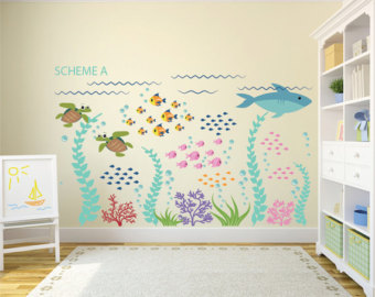 Wall decals for children more colors.  Ocean Stickers - Ocean Wall ... YXQDGUC