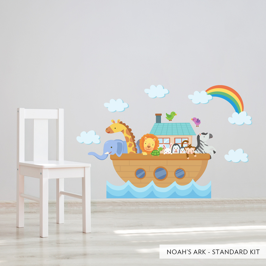 Wall decals for kids noahu0027s ark standard printed wall ... VNYPTJJ