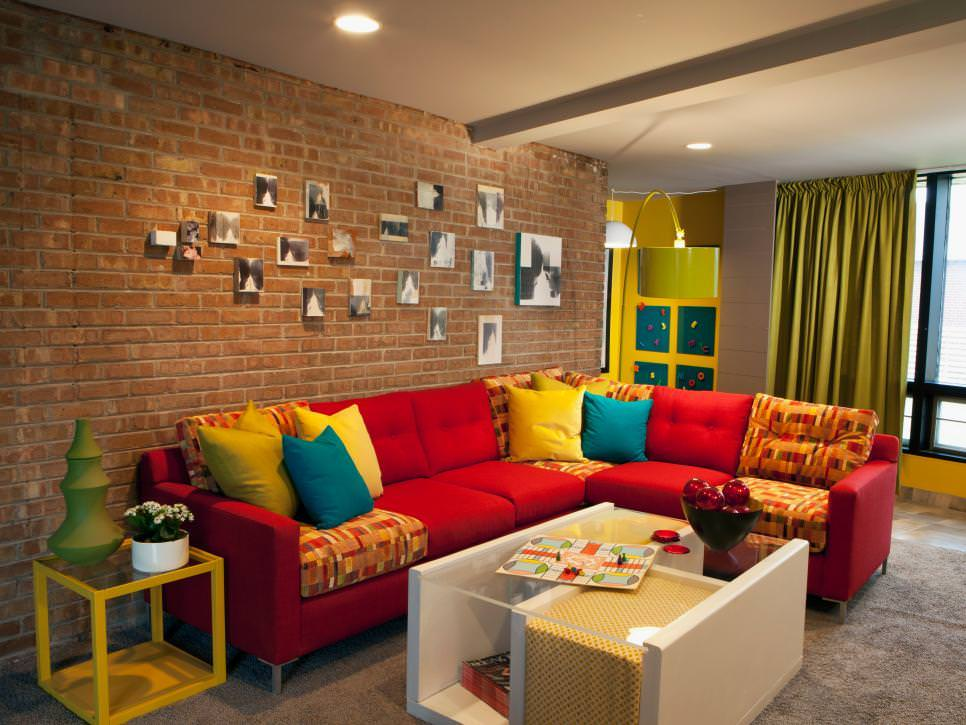 Wall designs for living room living room with brick wall design GVHDHIB