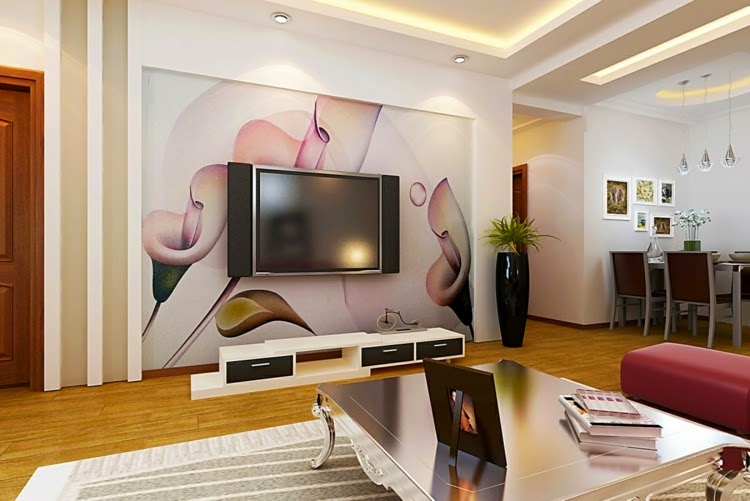 Wall designs for living room Office: unusual wall design ideas for living room 18 Decoration extraordinary ... XJSELFT