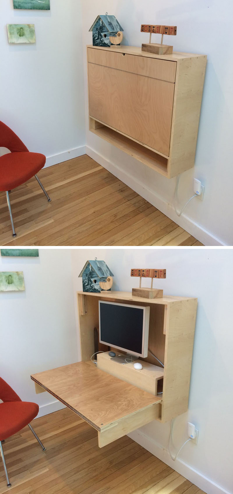 Wall Desk If you're feeling ambitious, you can also make your own custom folding XEVENVS