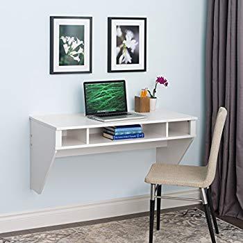 wall desk prepac wall-mounted floating designer desk in white VSLIPHS