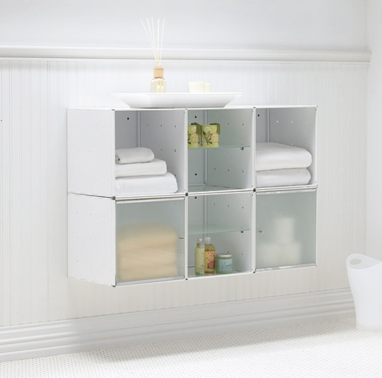 wall-mounted bathroom storage |  Apartment therapy XQFEEQN