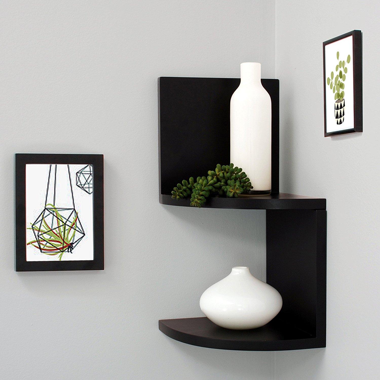 wall mounted corner shelf