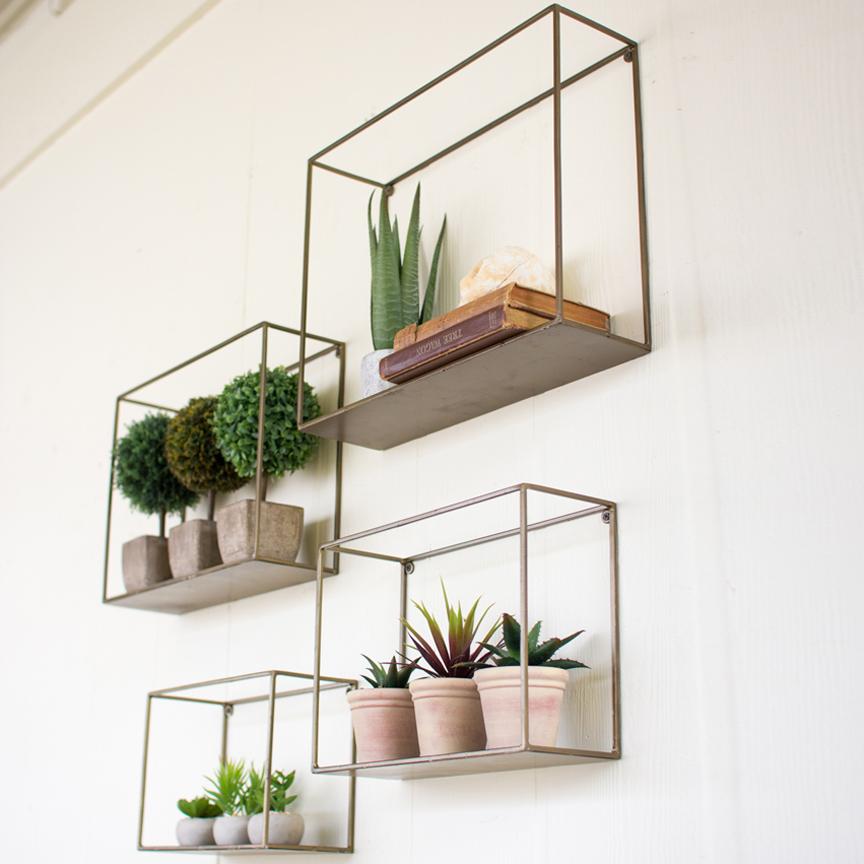 Wall shelves metal wall shelves (set-4) - nke1034 JOZMYKK