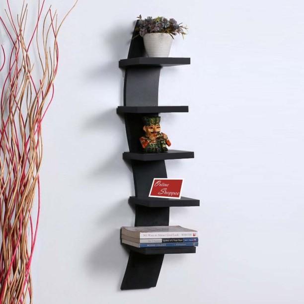 wall shelves onlineshoppee floating 5-tier mdf wall shelf GYZSYWX