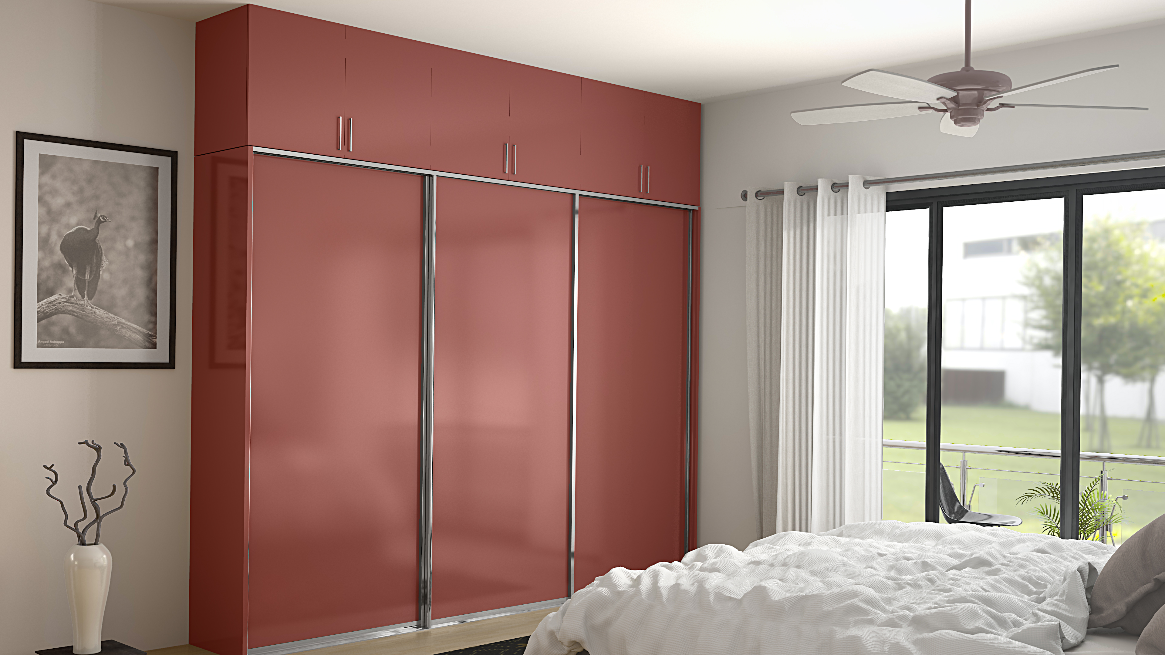 Add wardrobe designs to your room with this trendy sliding LVCNSWM.  a pink feeling