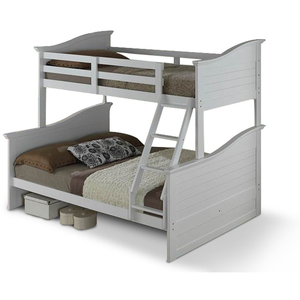 Wave double bed with bunk beds - children's furniture OBWSBJZ