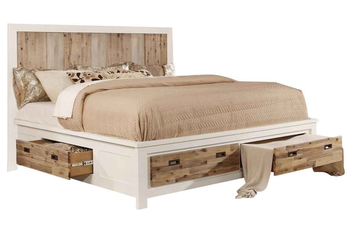 Western Queen bed with storage space by gardner-white Furniture OMLOLRL
