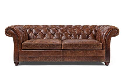 Westminster Chesterfield leather sofa by rose & moore WUAAXMH