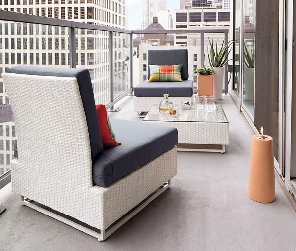 white balcony furniture FGUQUYA
