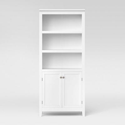 white bookcase Carson 72 LSXFAXY
