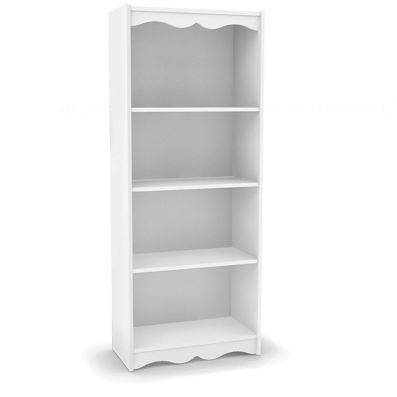 white bookshelf amazon.com: sonax hawthorn 60-inch high bookshelf, frost white: kitchen & dining YHEYKCI