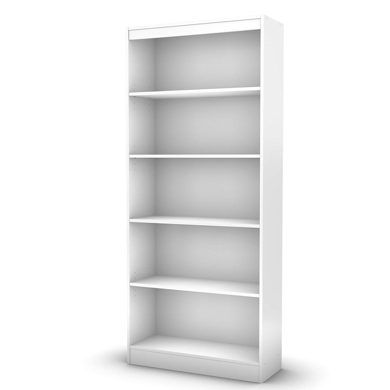 white bookshelf amazon.com: South Shore Axess collection bookshelf with 5 shelves, pure white: kitchen & NFAFIBD