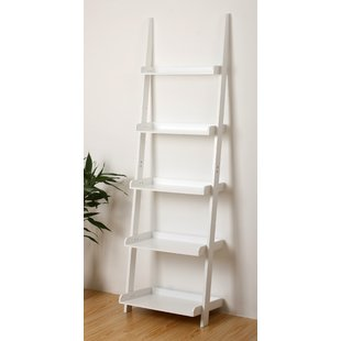 white bookcase Ricardo ladder bookcase YUWLKBC