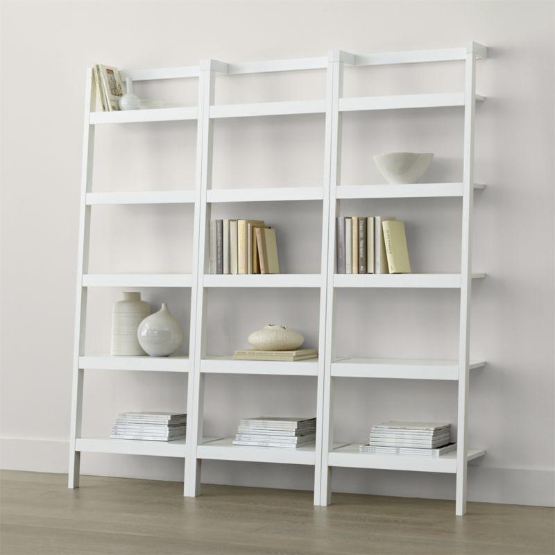 white bookshelf Säger leaning against white 24.5 YUTKIYM