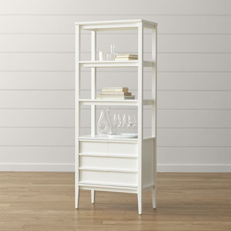 white bookcase Spotlight white bookcase + Reviews |  Box and barrel WUMFWTS