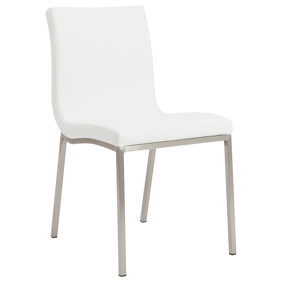 white dining chairs Order · smith modern white dining chair NXAEJYZ