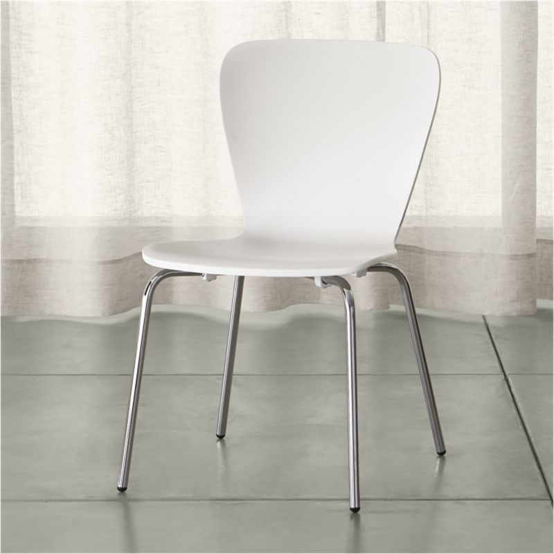 white dining chairs Felix white dining chair + Reviews    Crate and barrel CXOGGQN