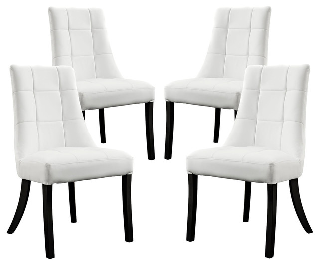 white dining room chairs fine vinyl dining room chairs, set of 4, white UJEFRIB