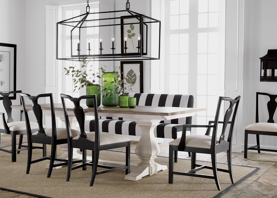 white dining room table back to the black and white dining room |  ethan allen |  ethan KUFWXJI