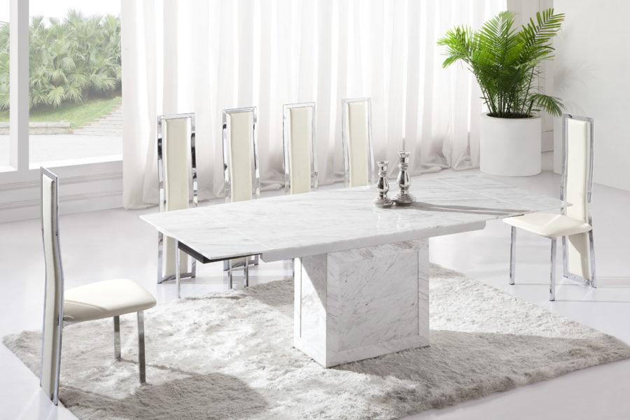 white dining room table brighten your dinner with these 15 white dining room tables KRIQZKL