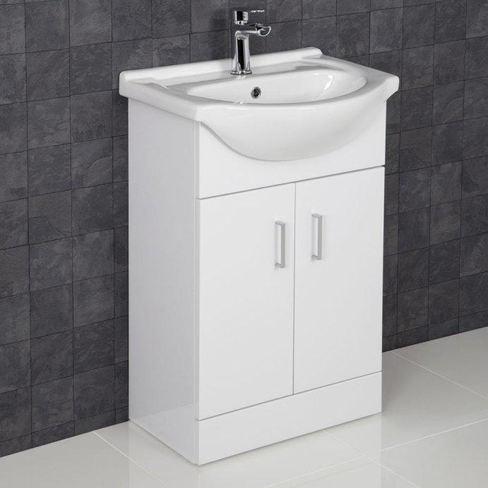 white floor-standing vanity units QZVMONH