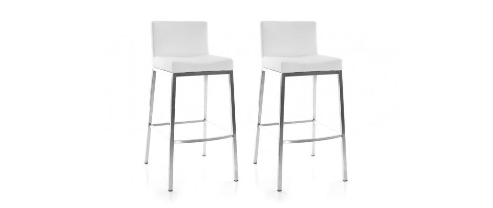 white modern bar stool epsilon (set of 2) OLBEYAY