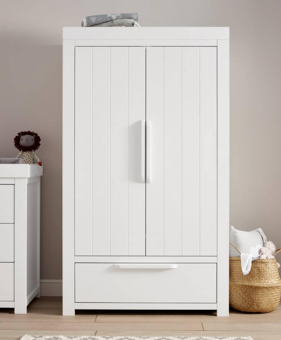 white wardrobe franklin 2-door children's wardrobe with drawer - white |  Mums & YEADHQC