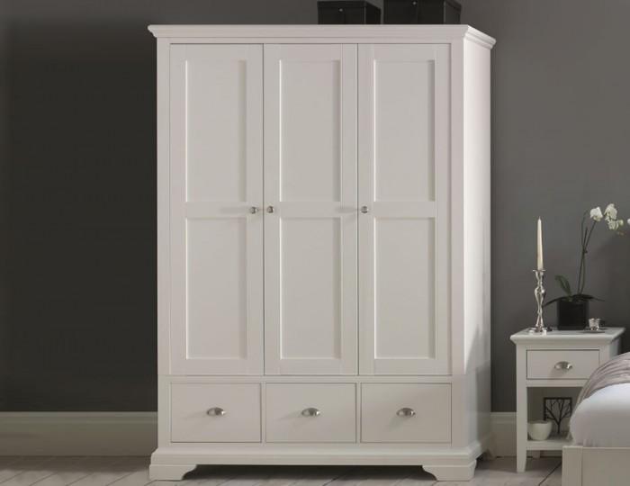 white wardrobe Hampstead white triple wardrobe WWYEWUL
