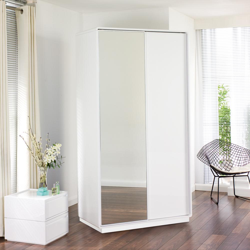 white wardrobe malone sliding mirror door wardrobe white.  Load Zoom OWEKMIY