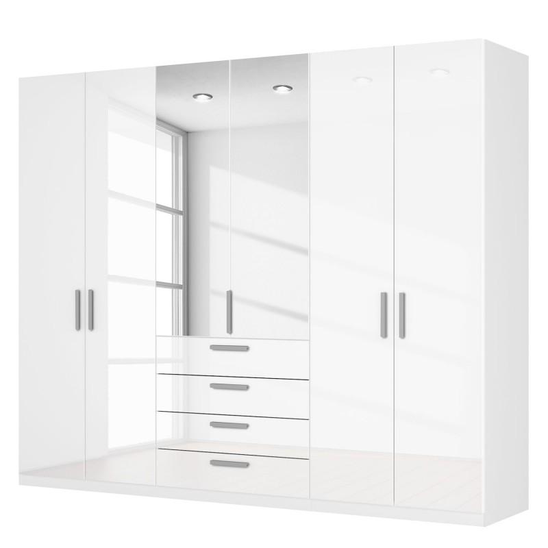 Wardrobe white smoky agon 6-door white glossy combination cabinet white corpus CAVFUPR