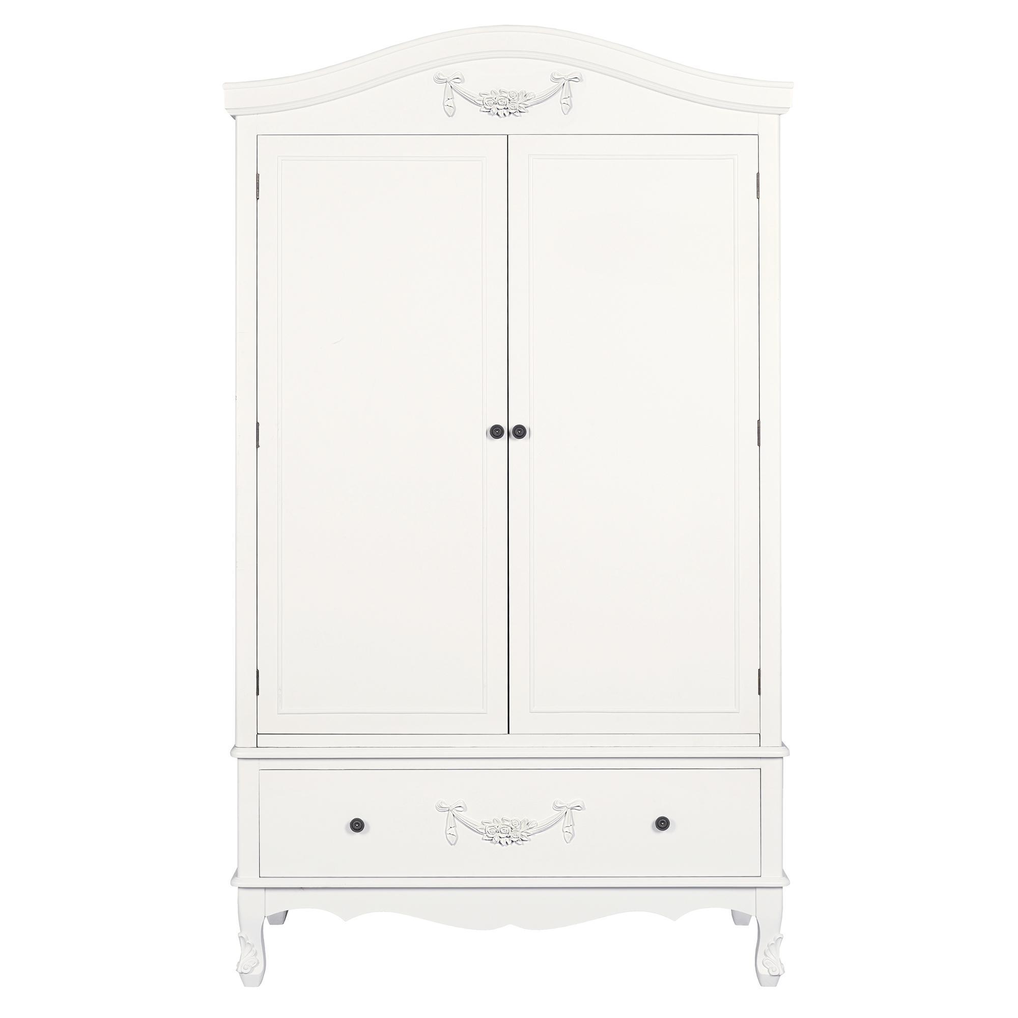 white wardrobe Toulouse white double wardrobe FZVLKJA