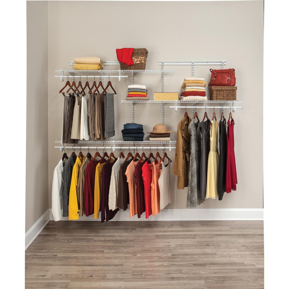 Closet organizer kit with white wire KTGOKSW