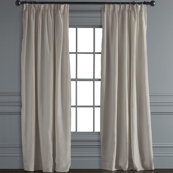 window treatments belgian linen folding drape, ... DAOIXLF