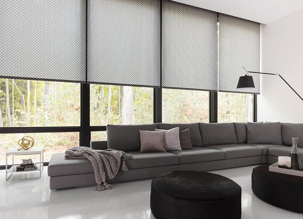 Roller blind for window treatments    nate berkus    raffi    Onyx BOQTLZV