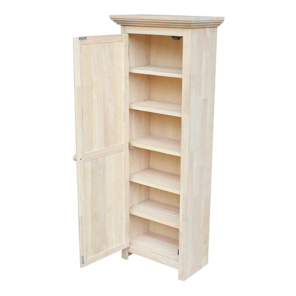 wooden cabinets international concepts solid parawood storage cabinet made of untreated wood DZROVXQ