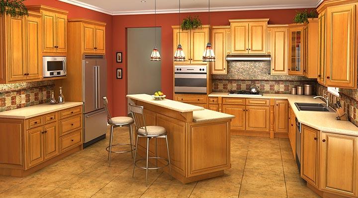 Wooden cabinets savanna kitchen cabinets ISVFZDB