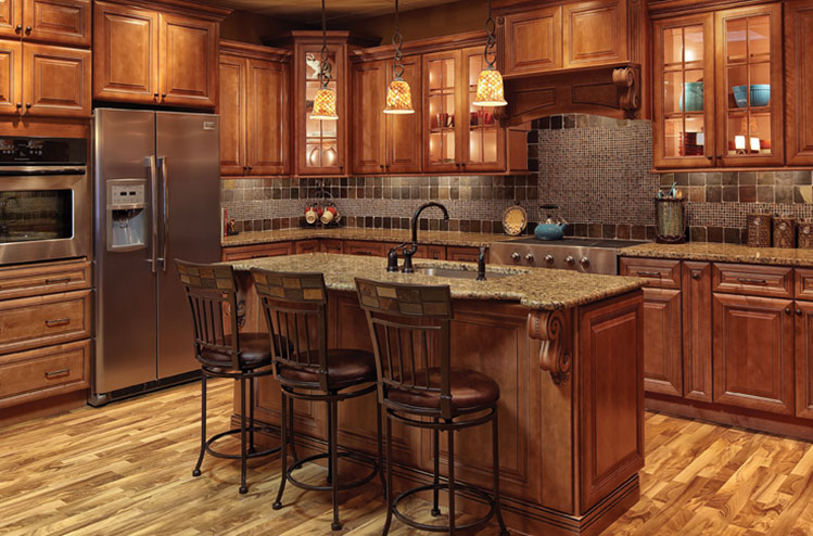 Wooden Cabinets Society Hill Plate - Mocha - Kitchen Cabinets YWJNBAD