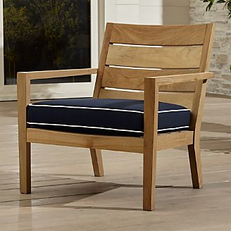 Wooden garden furniture Regatta natural armchair with sunbrella ® cushions TTIMEIH