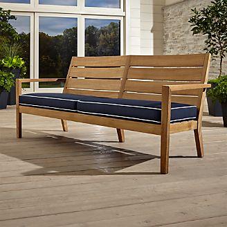 Wooden garden furniture Regatta natural sofa with sunbrella ® cushions SFUWZLJ