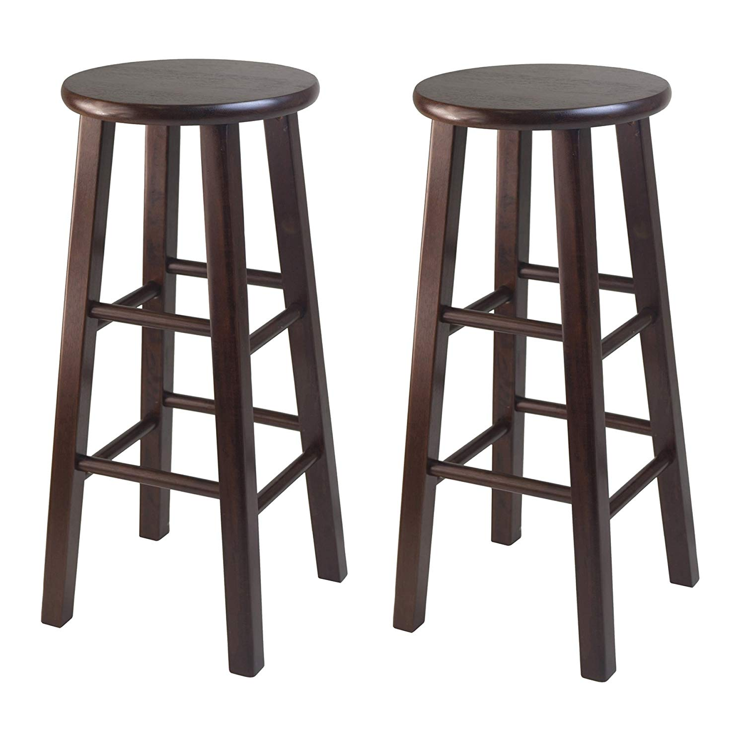 Wooden bar stool amazon.com: winsome wood 29-inch bar stool with square leg, natural, set by KASPJWT